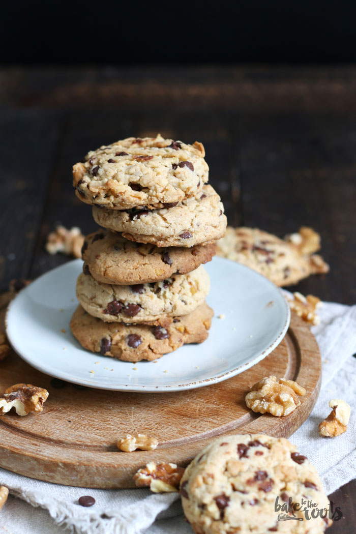 Vegan Walnut Chocolate Chip Cookies   Bake to the roots