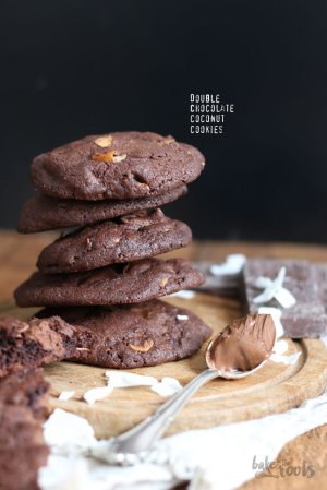 Double Chocolate Coconut Cookies mit Nutella