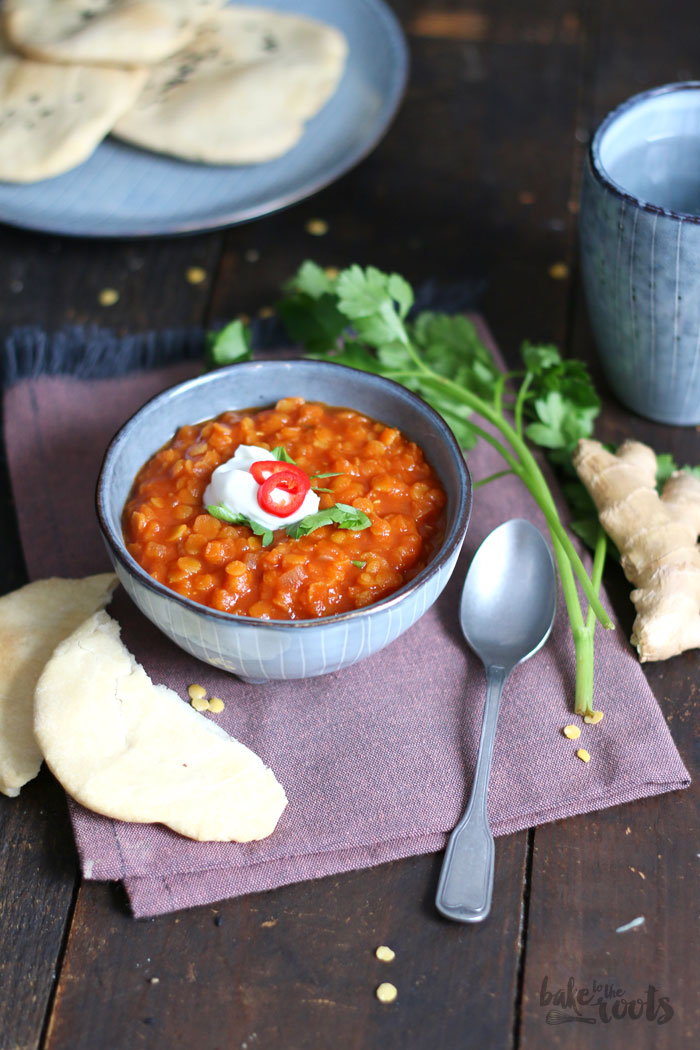 Linsensuppe mit Fladenbrot | Bake to the roots