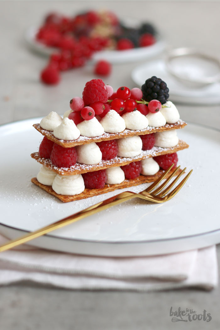 Mille-feuille mit Beeren | Bake to the roots