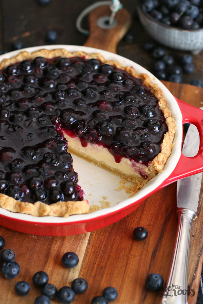 Blueberry Cheesecake Pie | Bake to the roots