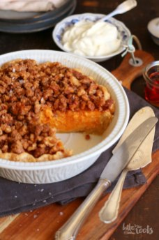 Sweet Potato Maple Walnut Pie | Bake to the roots