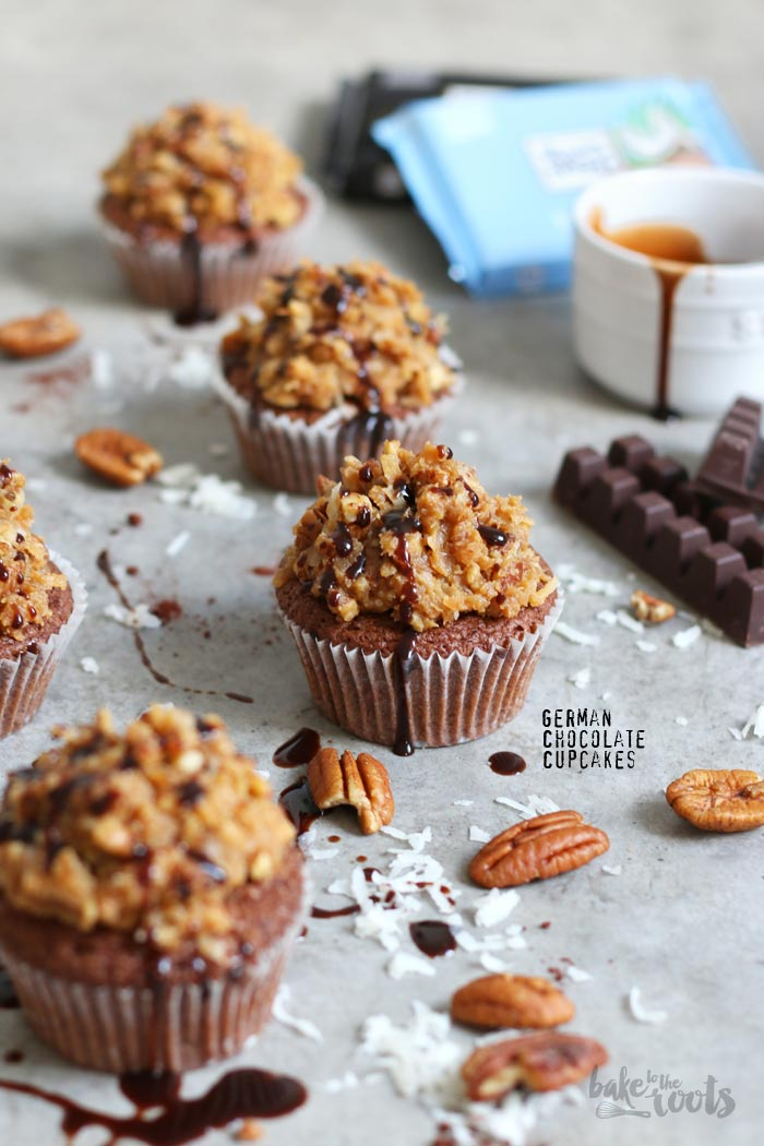 German Chocolate Cupcakes | Bake to the roots