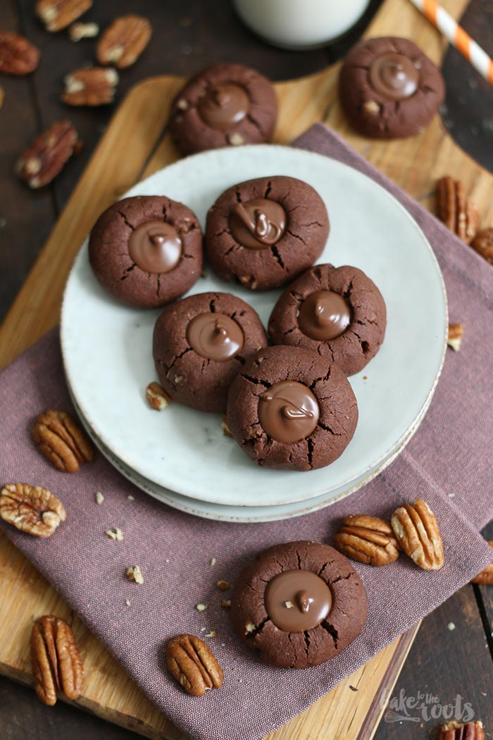 Chocolate Pecan Thumbprint Cookies | Bake to the roots