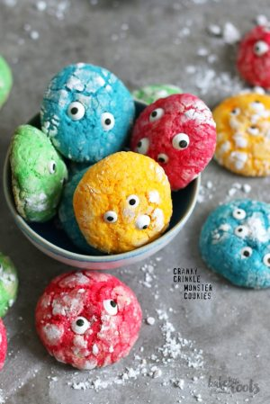 Crinkle Halloween Monster Cookies