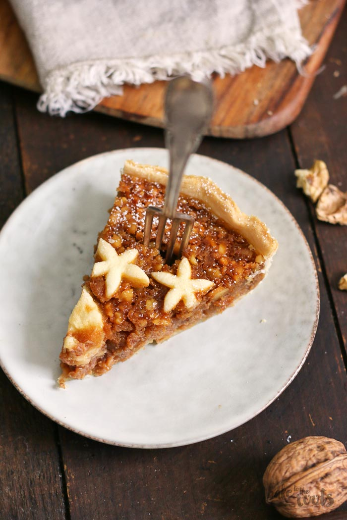Salted Caramel Walnut Pie | Bake to the roots