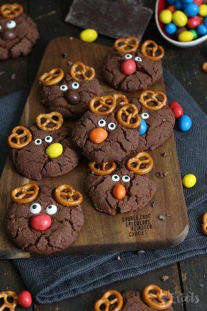 Double Chocolate Spekulatius Rentier Cookies