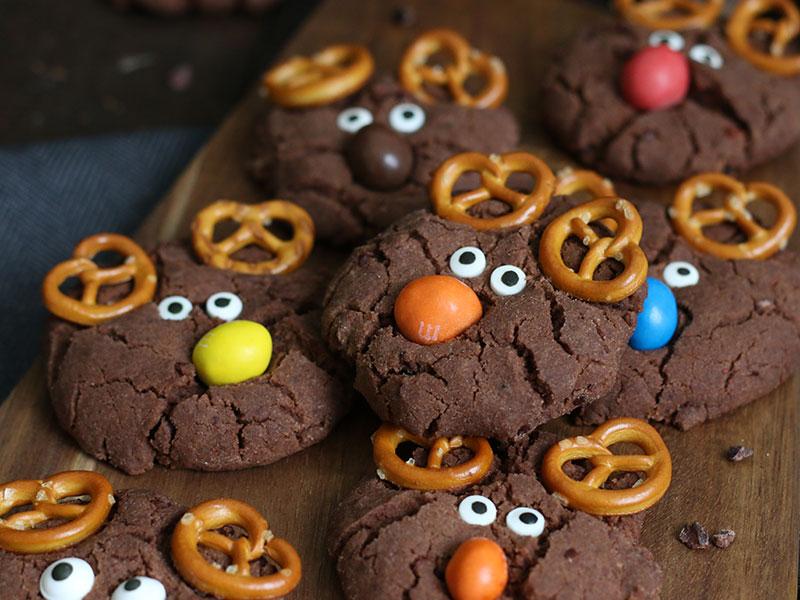 Double Chocolate Speculoos Reindeer Cookies