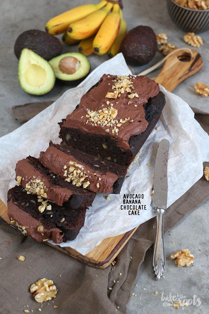 Avocado Banana Walnut Chocolate Cake   Bake to the roots