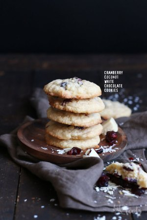 Cranberry Coconut White Chocolate Cookies