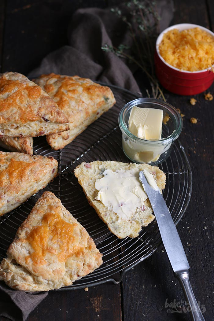 Cheddar Bacon Scones | Bake to the roots