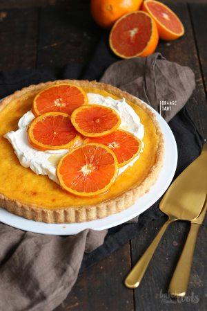 Orangentarte mit Karamellisierten Orangen