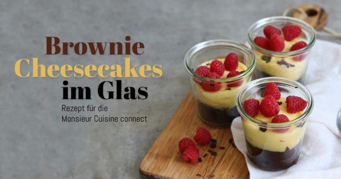 Brownie Cheesecakes im Glas gebacken | Bake to the roots