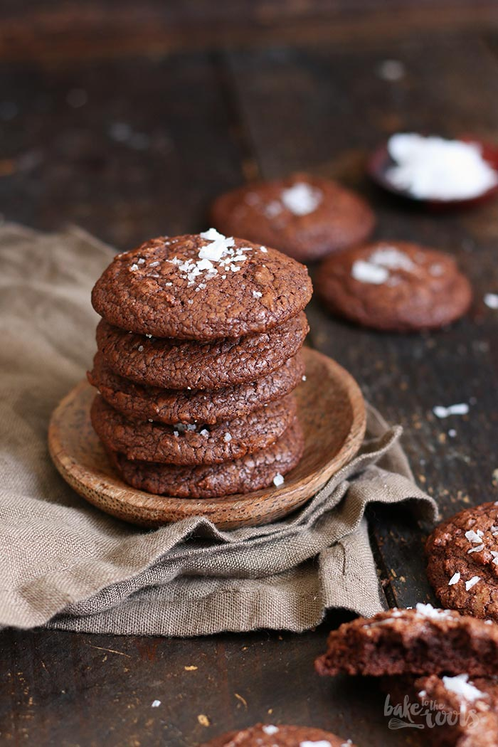 Espresso Brownie Cookies mit Fleur de Sel | Bake to the roots