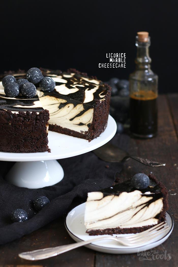 Lakritz Marmor Käsekuchen | Bake to the roots