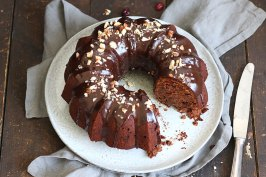 Cranberry Hazelnut Chocolate Bundt Cake | Bake to the roots