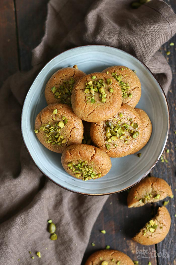 Tahini Pistachio Cookies | Bake to the roots