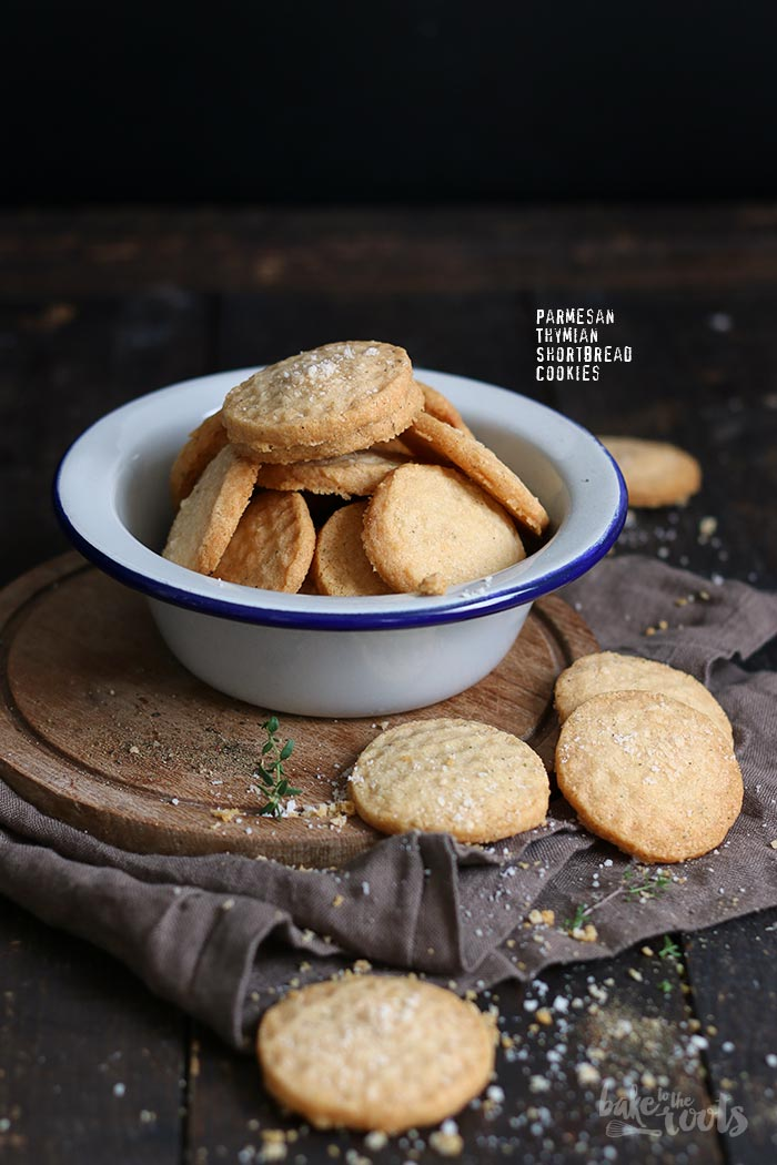 Parmesan Thyme Shorbread Cookies | Bake to the roots