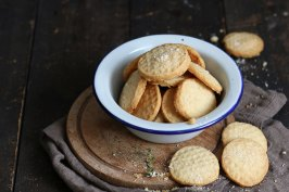 Parmesan Thyme Shorbread Cookies   Bake to the roots
