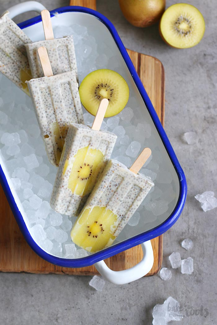 Chia Pudding Kiwi Popsicles | Bake to the roots