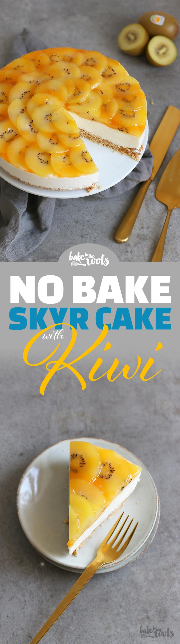 No Bake Skyr Cake mit Kiwi | Bake to the roots
