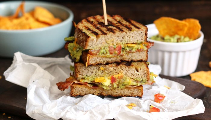 Bacon Guacamole Grilled Cheese Sandwich   Bake to the roots