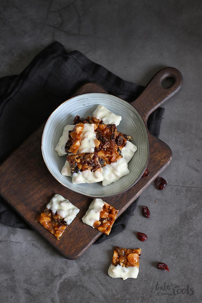 Cranberry Macadamia Florentines | Bake to the roots