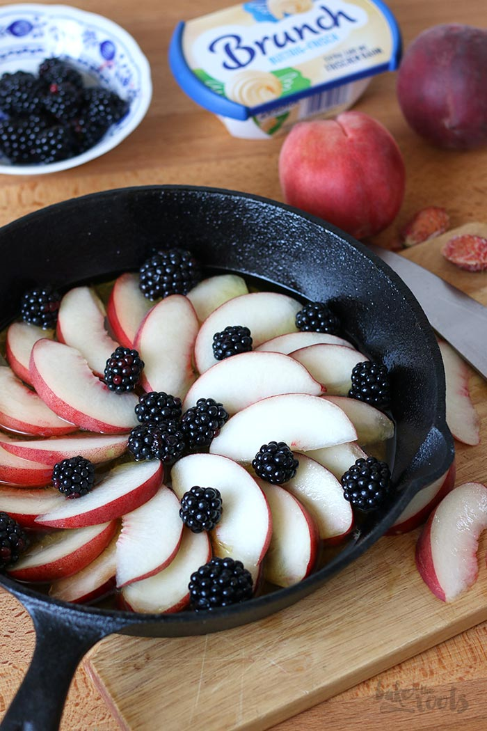 Pear Blackberry Upside Down Cake | Bake to the roots