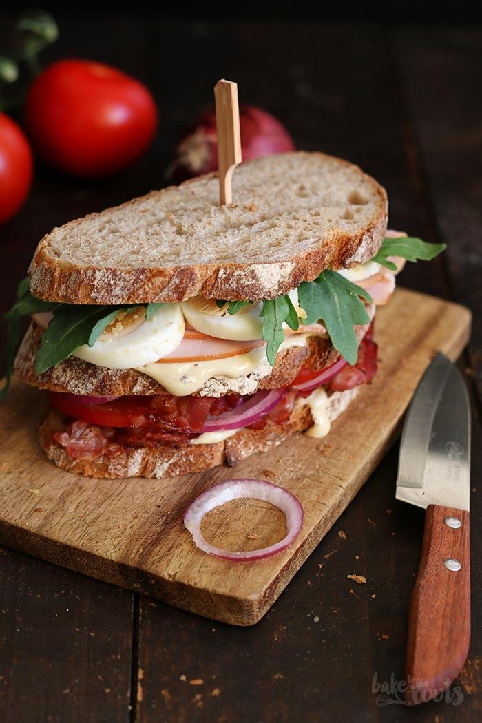 Club Sandwich mit Hähnchenbrust und Bacon – Bake to the roots