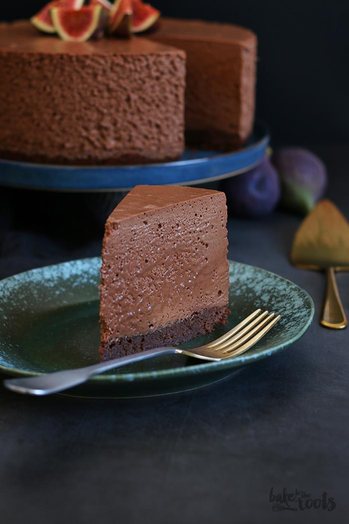 Brownie Double Chocolate Mousse Cake | Bake to the roots