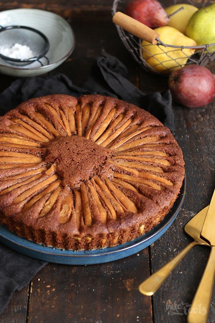 Schokolade Birnen Kuchen | Bake to the roots