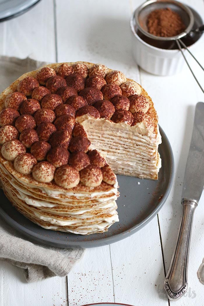 Tiramisu Crêpe Cake | Bake to the roots