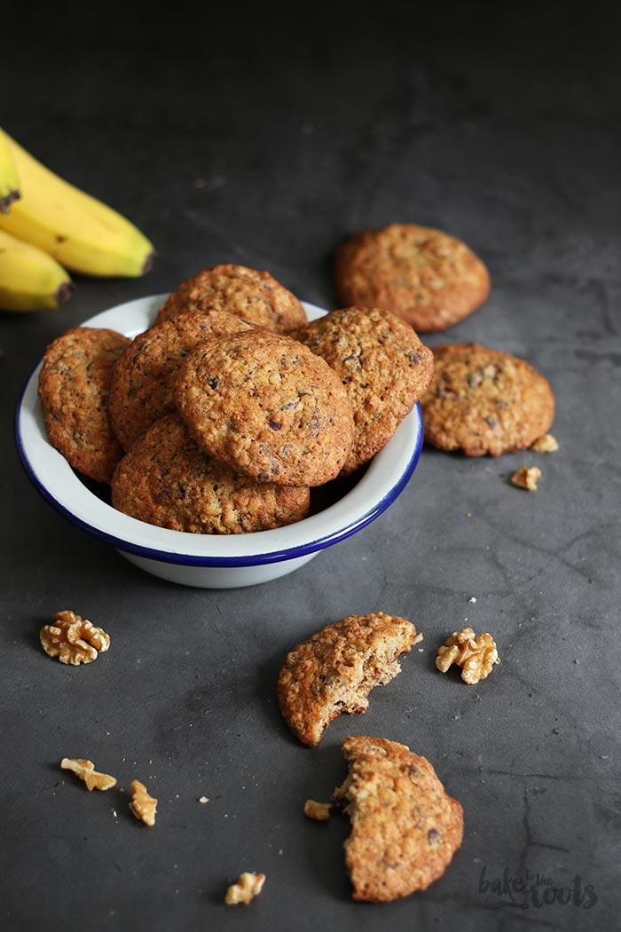 Banana Walnut Chocolate Chunk Cookies | Bake to the roots