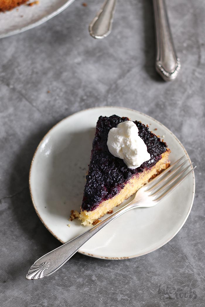 Blueberry Polenta Upside Down Cake   Bake to the roots