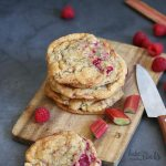 Rhubarb Raspberry Cookies | Bake to the roots