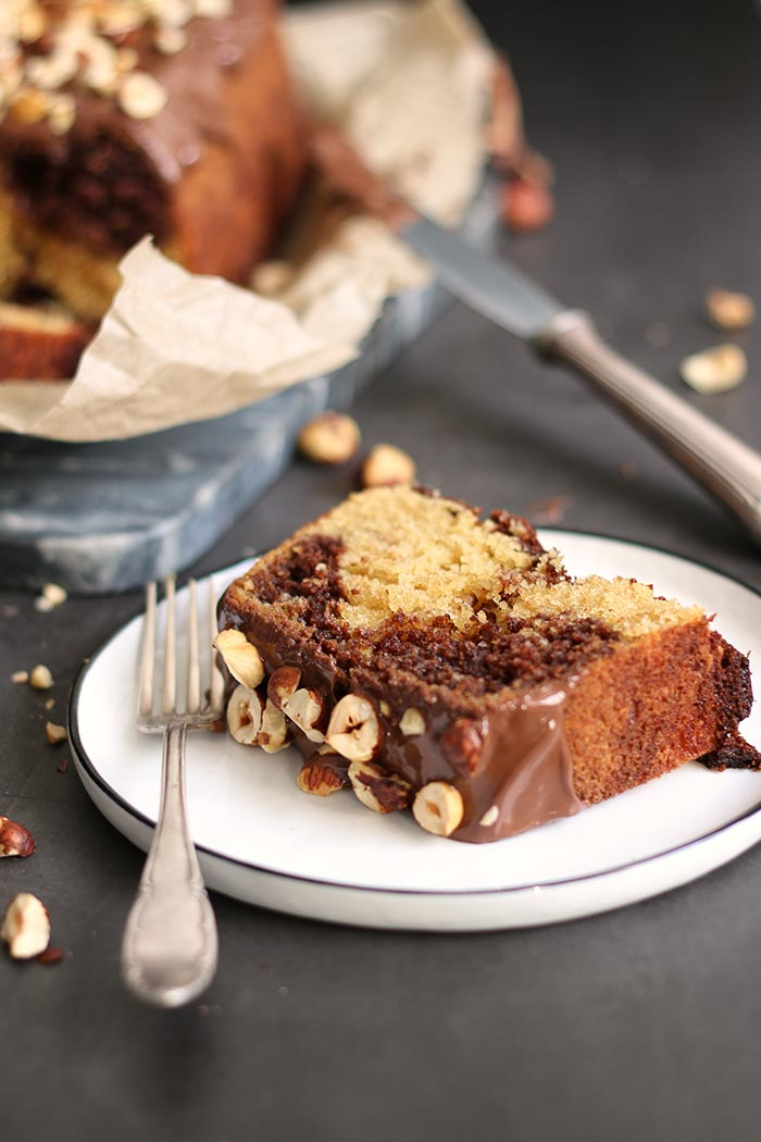Nutella Loaf Cake with Hazelnuts | Bake to the roots