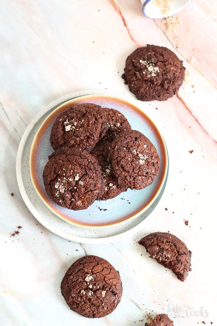 Double Chocolate Smoke Salt Cookies | Bake to the roots