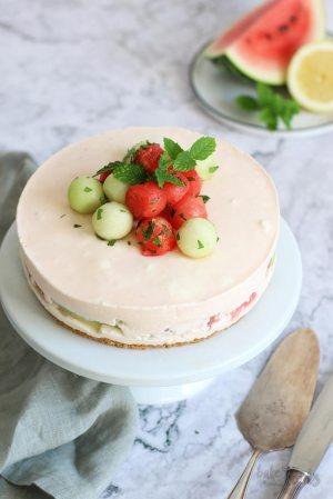 (No-Bake) Melon Cheesecake