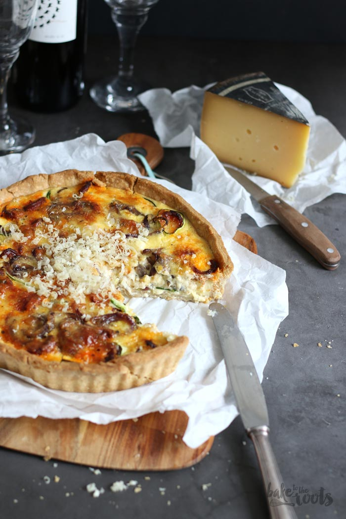 Zucchini Chorizo Cheese Tart | Bake to the roots