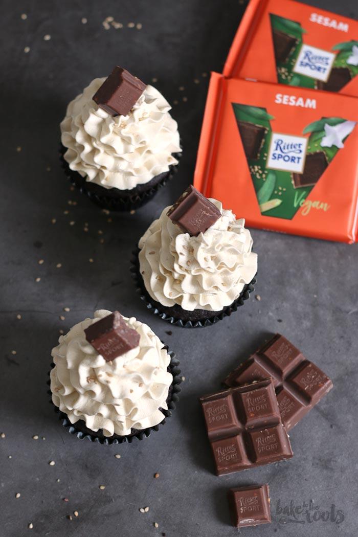 Vegan Chocolate Tahini Cupcakes   Bake to the roots