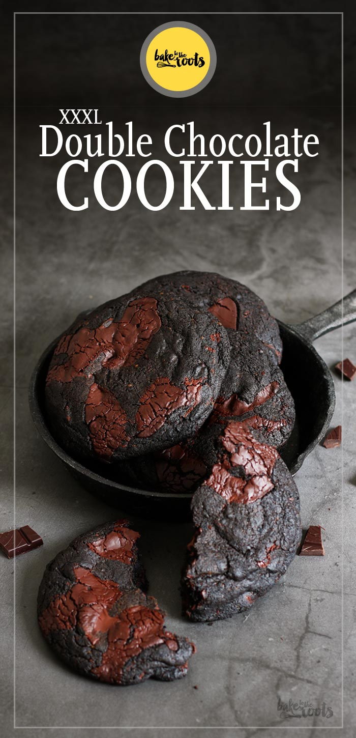 XXXL Double Chocolate Cookies | Bake to the roots