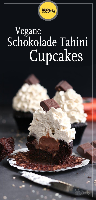Vegane Schokolade Tahini Cupcakes | Bake to the roots