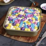 Floral Chocolate Sheet Cake | Bake to the roots