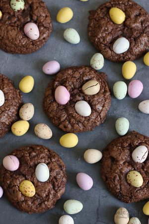 Double Chocolate Easter Cookies