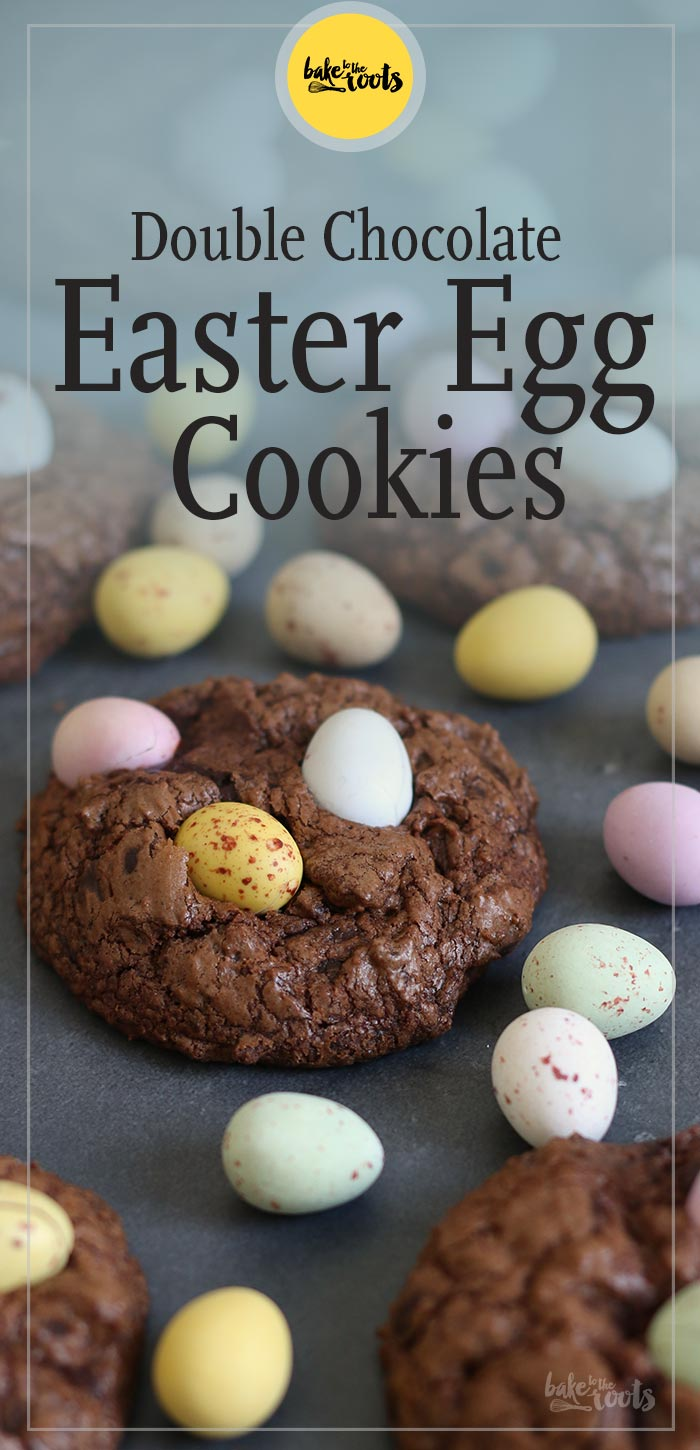 Double Chocolate Easter Egg Cookies | Bake to the roots
