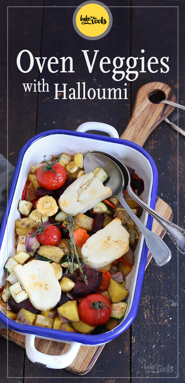 Oven Veggies with Halloumi | Bake to the roots