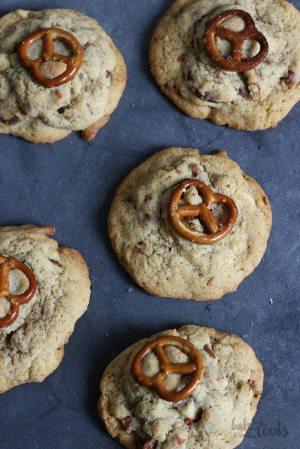 White Chocolate Pretzel Cookies