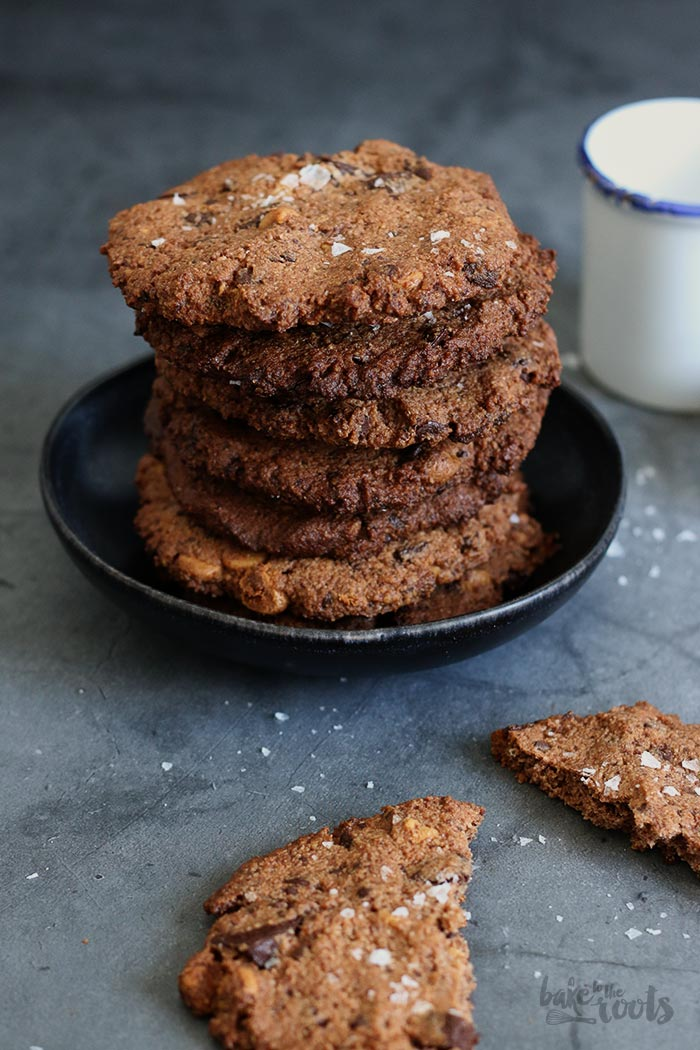 (Gluten-free) Double Chocolate Peanut Butter Cookies | Bake to the roots