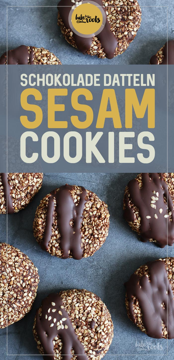 Schokolade Dattel Sesam Cookies | Bake to the roots