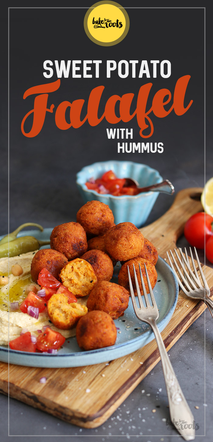 Sweet Potato Falafel with Hummus | Bake to the roots